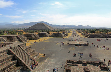 Pyramide du soleil, Teotihuacan dans la vallée de Mexico