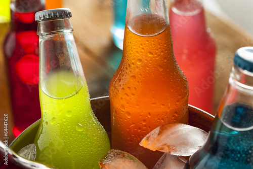 canvas print picture Assorted Organic Craft Sodas
