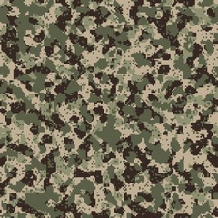 Seamless digital universal camo vector