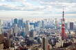 Leinwanddruck Bild - Tokyo Tower
