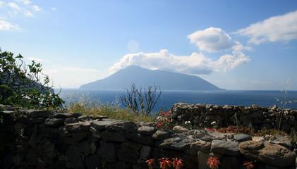 Landschaft Lipari Vulkan