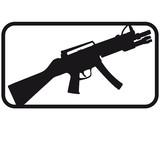 Shooter Waffe Killer eSport Logo 1c poster
