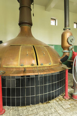 Brew kettle at Brewery