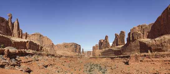 A View of Park Avenue at Arches National Park, Utah