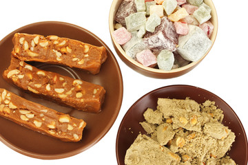 East sweets - halva, sherbet and Turkish delight