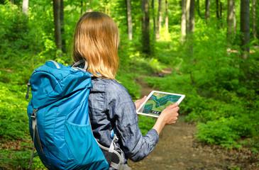 Wandern mit Tablet-PC und Navi-App