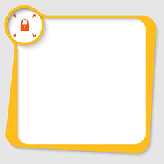 yellow text box with padlock and arrows