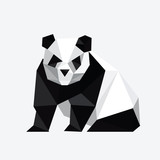 Fototapety Illustration of abstract origami panda bear