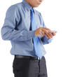 Businessman using smartphone