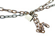 Padlock and chain on Isolated background