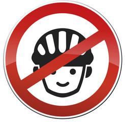 Schild Verbot Fahrradhelm Spielplatz