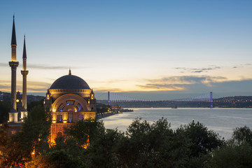 Istanbul - Dolmabahce Mosque and bridge