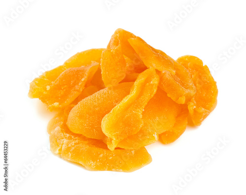 dried melon isolated on white background
