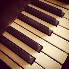 Keys of a vintage piano