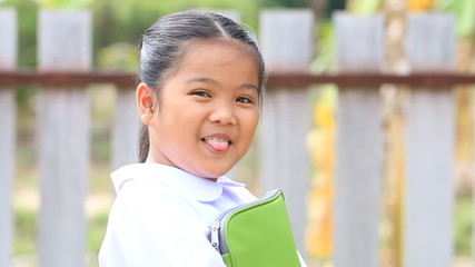 Asian children in school uniform