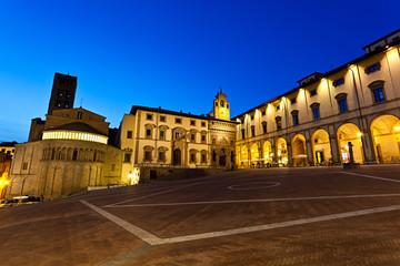 Arezzo, Piazza Grande al crepuscolo