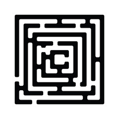 Illustration of simple black maze