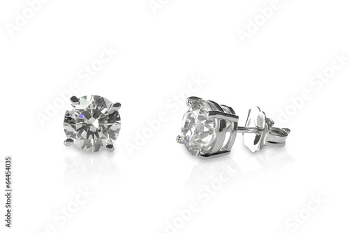 Beautiful Diamond stud earrings - 64454035