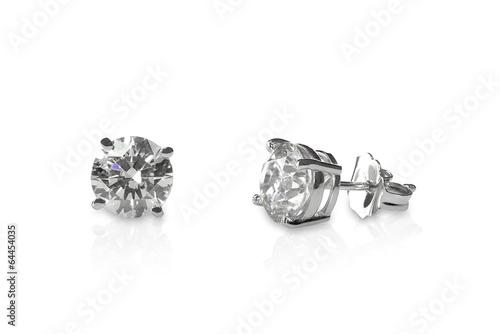 Leinwandbild Motiv Beautiful Diamond stud earrings