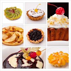 Food Collage from various kinds of restaurant menu dishes