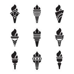Set icons of torch