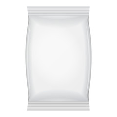 White Blank Foil Food Snack Sachet Bag Packaging For Coffee