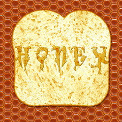 Honey and toast