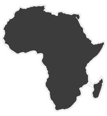 Kontinent Afrika als Aufkleber
