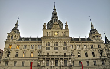 The Town hall of Graz, Styria, Austria, Europe
