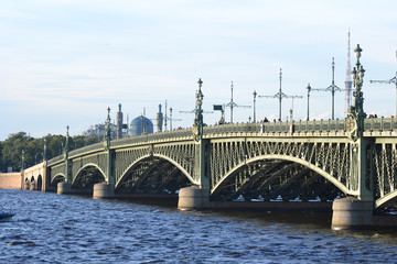Trinity Bridge in St.Petersburg