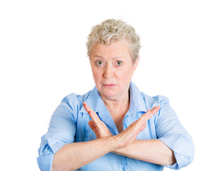 Cut the crap, upset senior woman asking to stop it