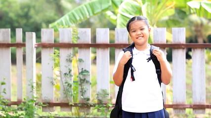 Asian children before go to school
