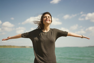 The Woman who is Breathing Fresh Air