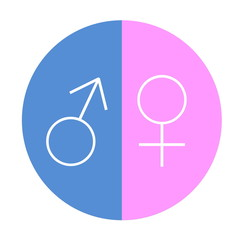 Male female equality circle