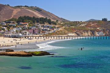 Avila beach--whale watching destination in California