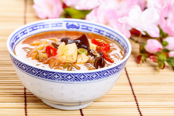 Sauer-scharf-Suppe - chinese hot and sour soup