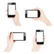 Female hands holding smartphone