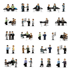 Business Peoples - Isolated On White Background