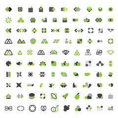 Unusual Icons Set - Isolated On White Background