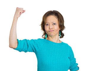 Strong senior, elderly woman in good spirit and physical shape