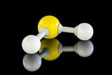 Atom model of Hydrogen sulfide poster