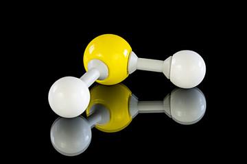 Atom model of Hydrogen sulfide