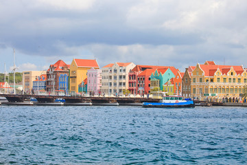 Colorful colonial houses in Willemstad, Curacao