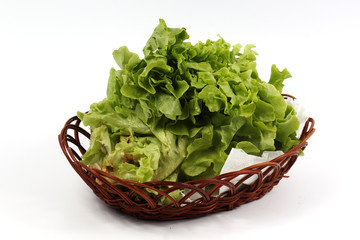 Fresh the lettuce in basket