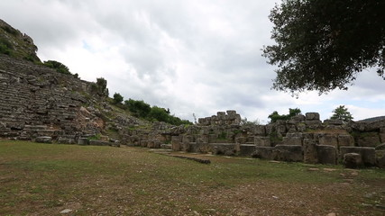 ruins amphitheater at ancient Kaunos