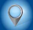 blue locator pointer illustration design