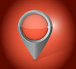 red locator pointer illustration design