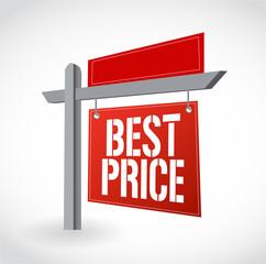 real estate best price sign illustration design