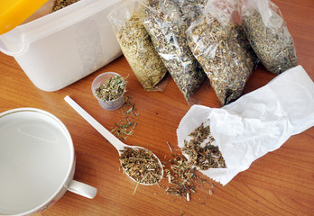 Phytotherapy. Dry medicinal herbs