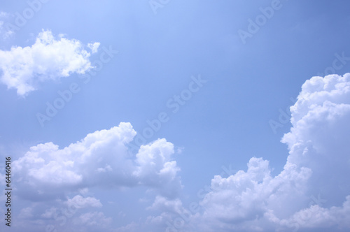White clouds on a blue sky.